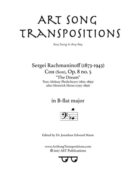 The Dream, Op. 8 no. 5 (B-flat major, bass clef)