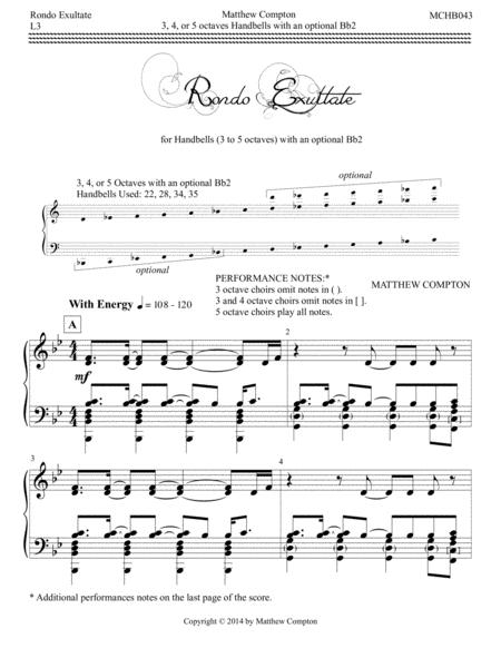 Rondo Exultate - MCHB043