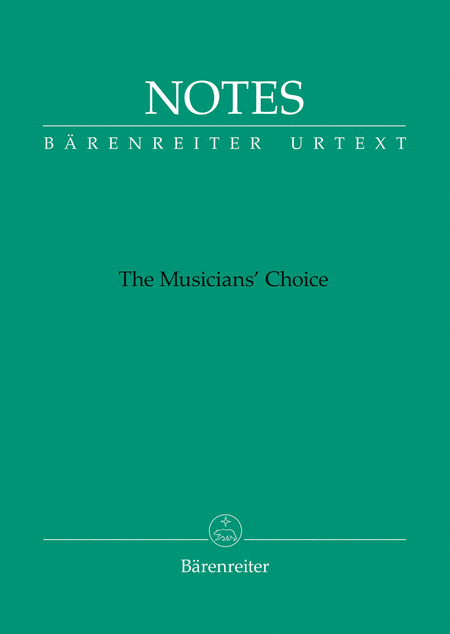 Notes (Barenreiter notebook with the green cover)