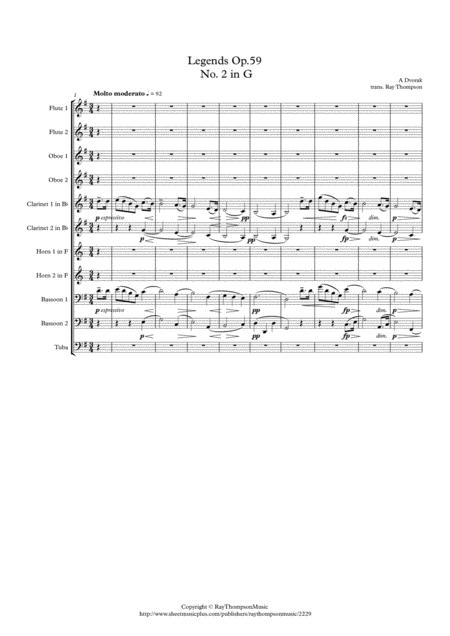Dvorak: Legends Op.59 Mvt.2 in G - wind Dectet