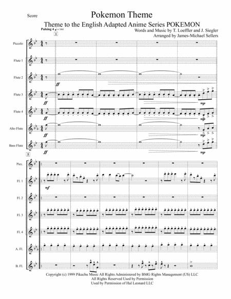 Pokemon Theme for Flute Choir