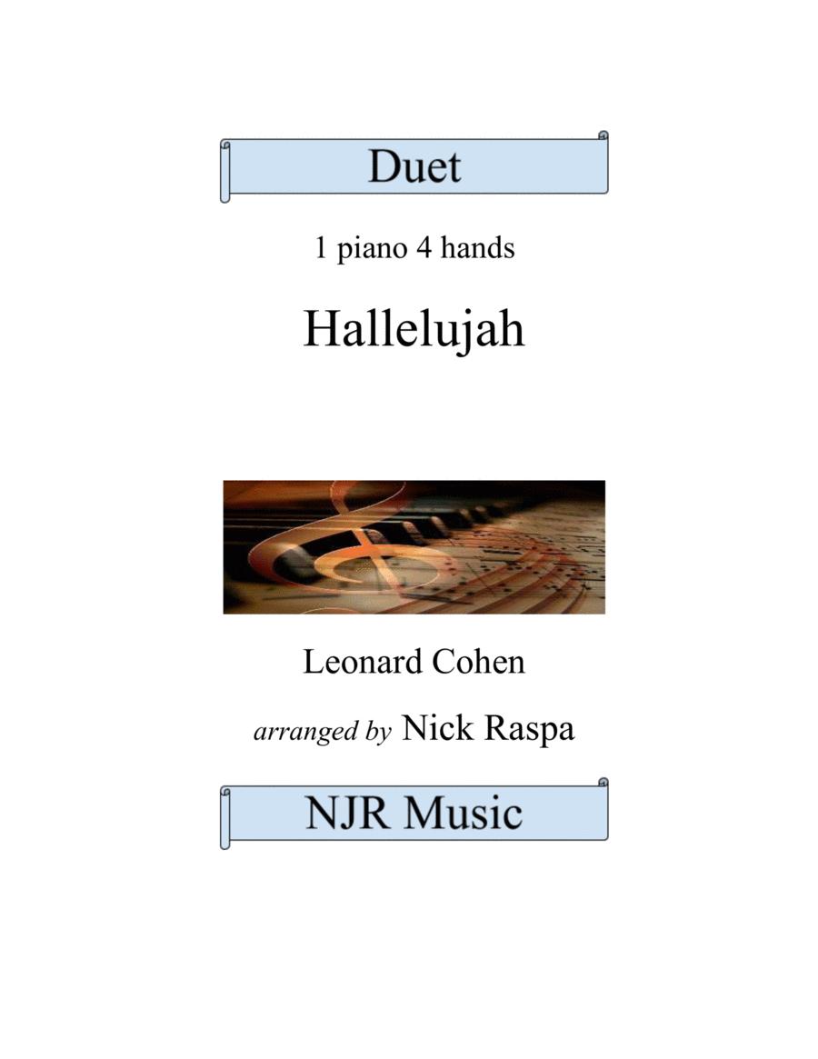 Hallelujah by Leonard Cohen (1 piano 4 hands) advanced intermediate