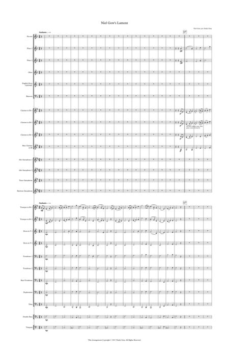 Niel Gow's Lament (Concert Band - Score)