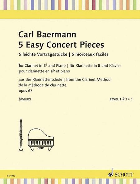 5 Easy Concert Pieces, Op. 63
