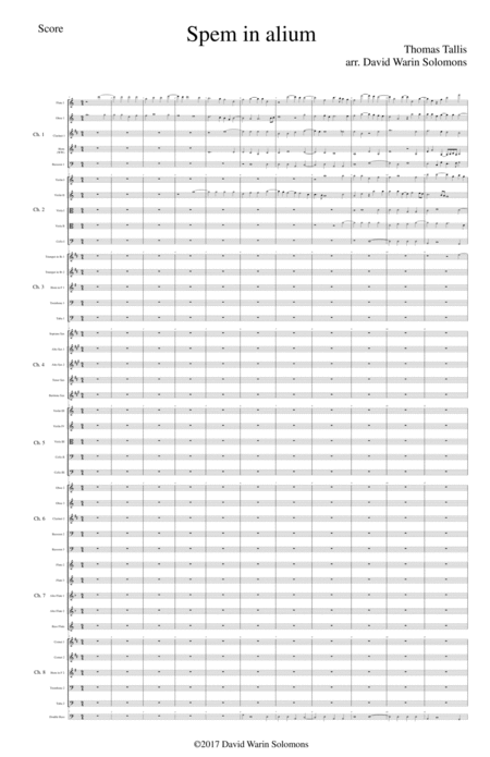 Spem in Alium (40 part motet) arranged for orchestra