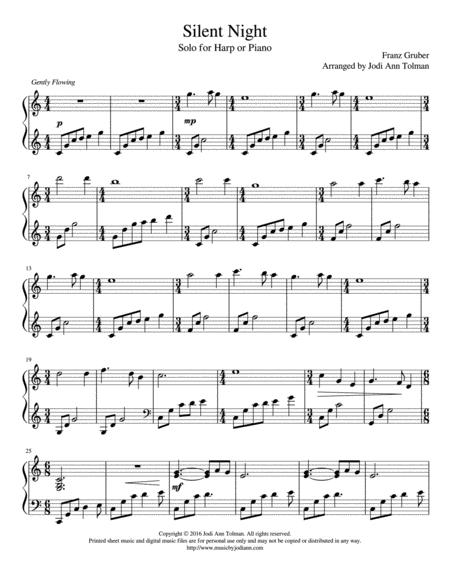 Silent Night, Harp Solo