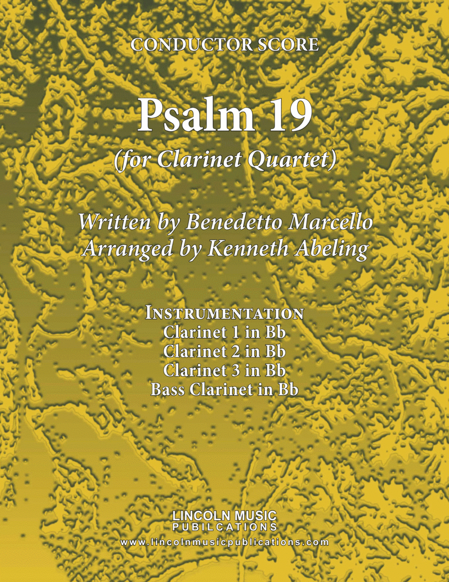 Psalm 19 - Benedetto Marcello (for Clarinet Quartet)