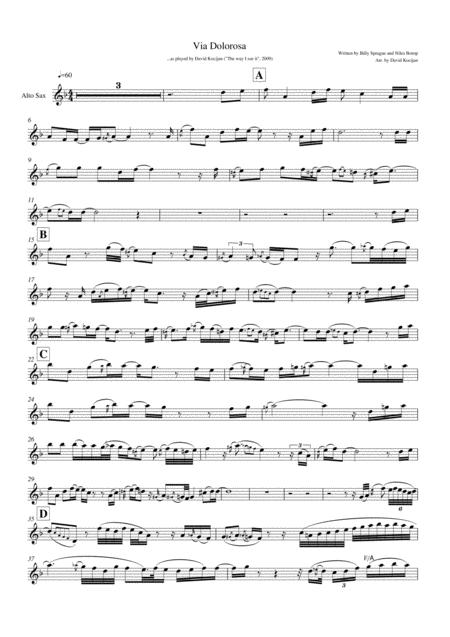 Via Dolorosa - SOLO in Eb (alto sax)