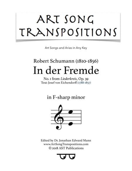 In der Fremde, Op. 39 no. 1 (F-sharp minor)
