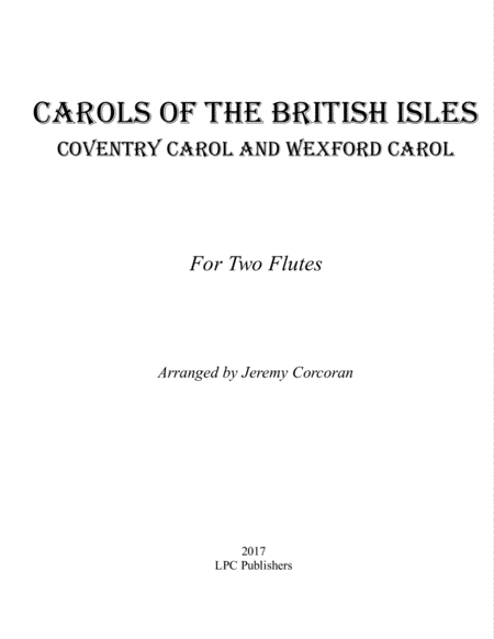Carols of the British Isles For Two Flutes