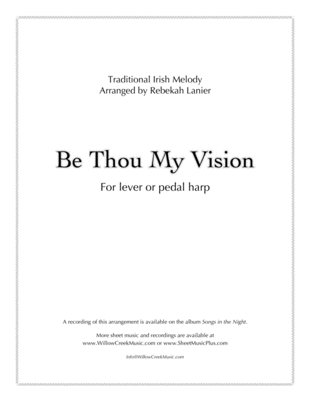 Be Thou My Vision - for solo harp