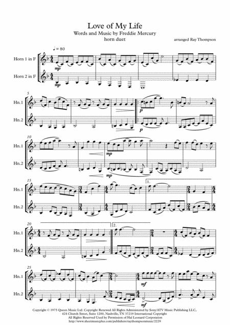 Queen: Love Of My Life - horn duet