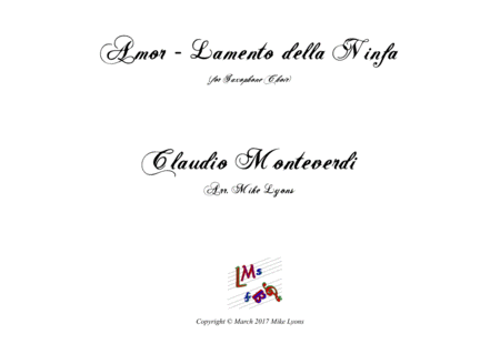 Amor - Lamento Della Ninfa (Monteverdi) (Sax Choir)