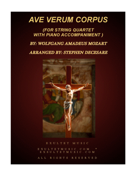 Ave Verum Corpus (for String Quartet - Piano accompaniment)