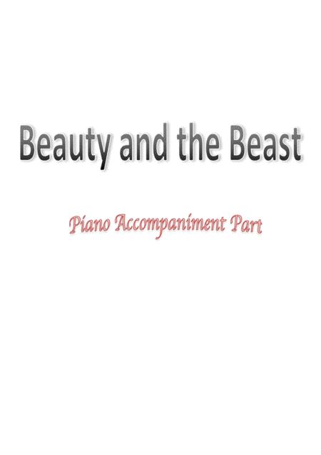 Beauty And The Beast - Alto Saxophone and Piano Accompaniment (2017 Fantastic Version)