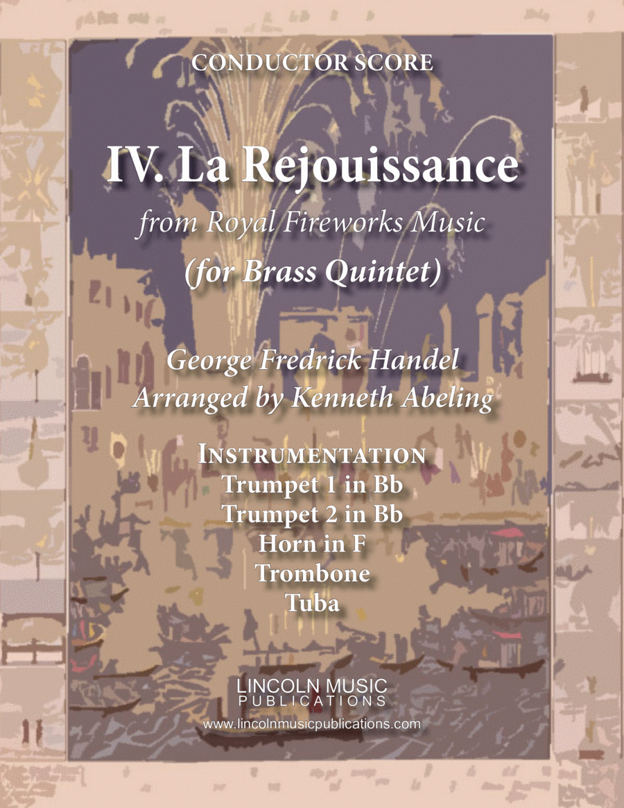 La Rejouissance from Royal Fireworks Music (for Brass Quintet)