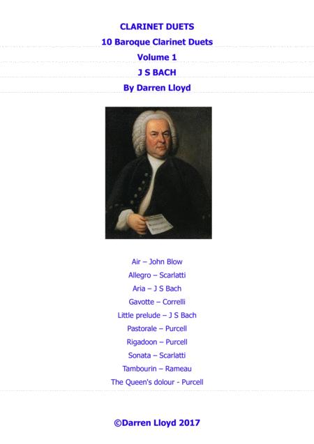 Clarinet duets - 10 Baroque duets - Volume 1
