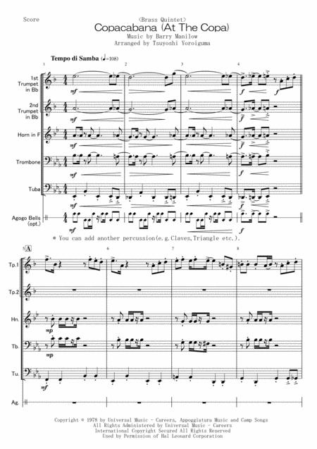 <Brass Quintet> Copacabana (At The Copa)