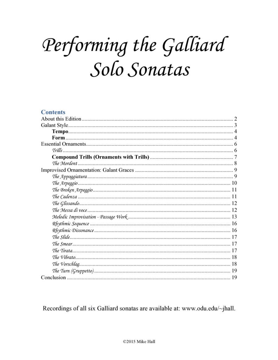 Six Sonatas for Trombone and Keyboard