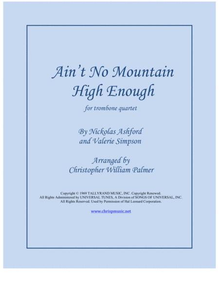 Ain't No Mountain High Enough (Trombone Quartet)