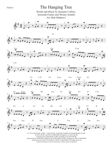 The Hanging Tree for Violin Solo