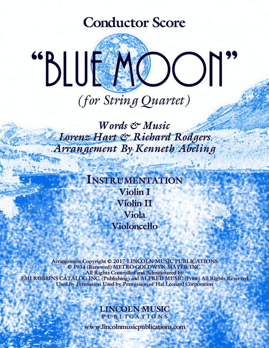 Blue Moon (for String Quartet)