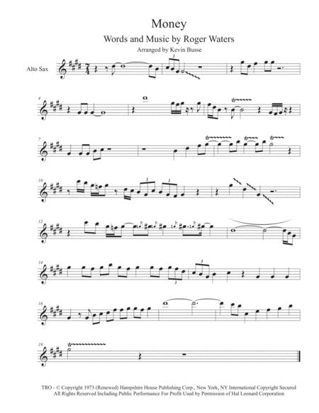 Money - Alto Sax (solo)