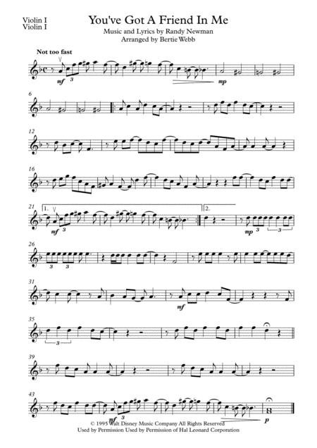 You've Got A Friend In Me - String Quartet