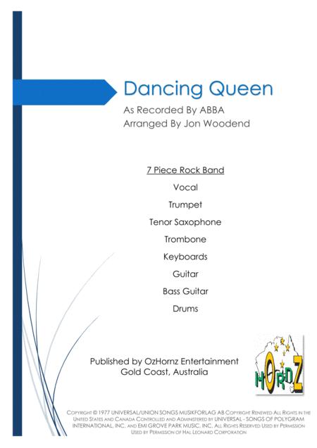 Dancing Queen - 7 Piece Horn Chart