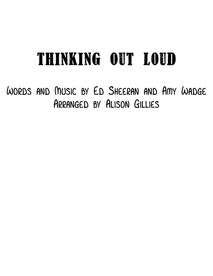 Thinking Out Loud - String Duo (vln/vc)