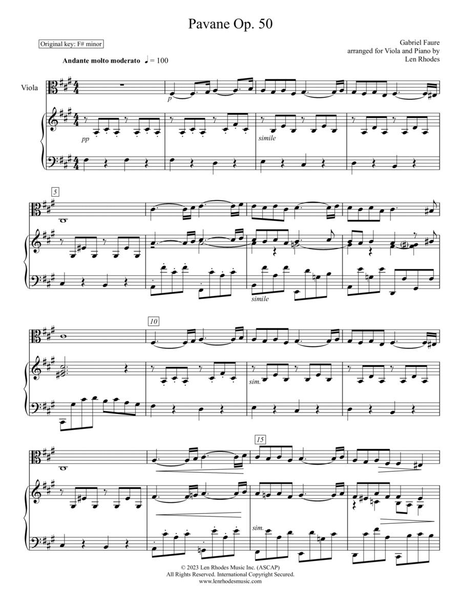 Pavane - Gabriel Fauré; for Viola and Piano