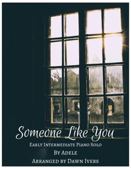 Someone Like You - Adele, easy/intermediate piano solo