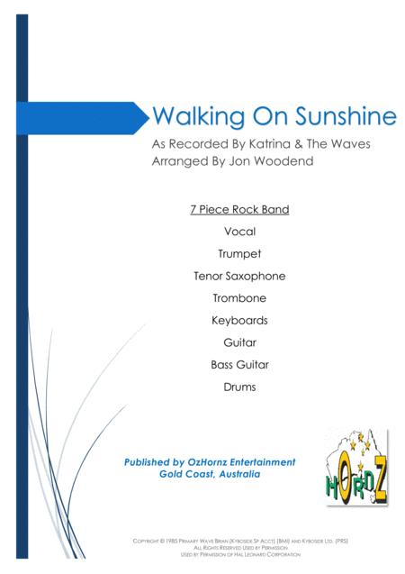 Walking On Sunshine - 7 Piece Horn Chart