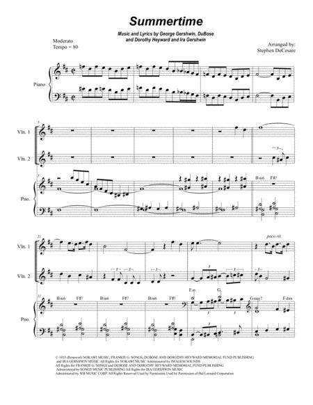Summertime (for String Quartet)