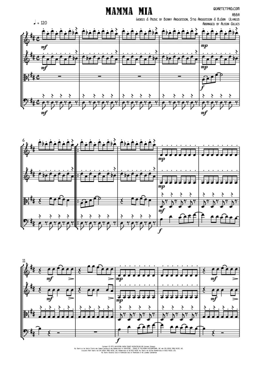 Mamma Mia - String Quartet