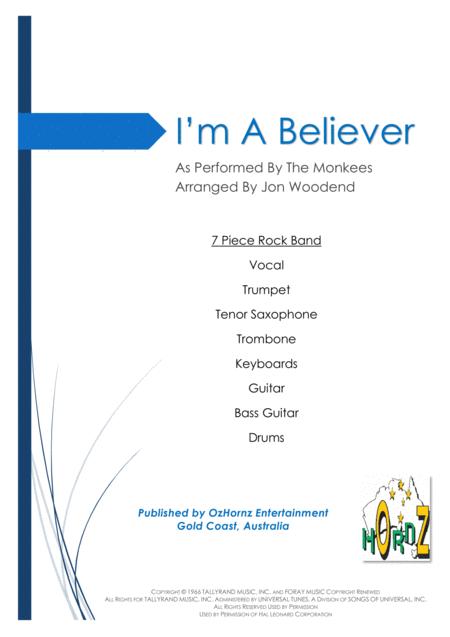 I'm A Believer - 7 Piece Horn Chart