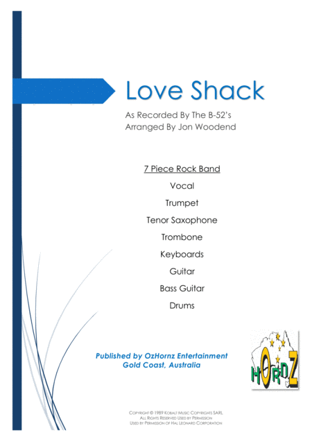 Love Shack - 7 Piece Horn Chart