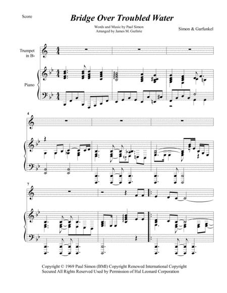 Simon & Garfunkel: Bridge Over Troubled Water for Trumpet & Piano