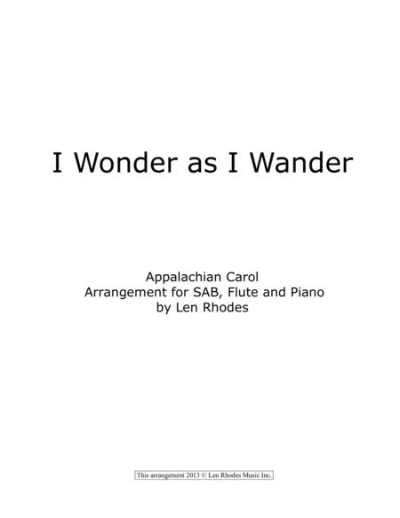 I Wonder As I Wander - SAB, Flute and Piano