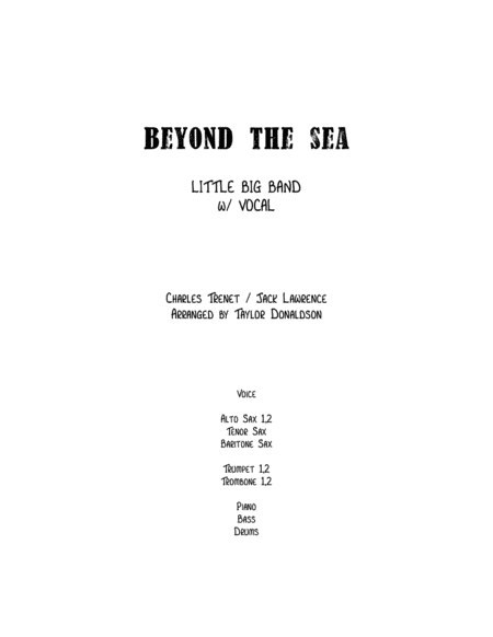 Beyond The Sea (Little Big Band with Vocal)