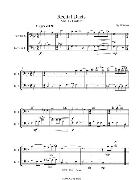 Recital Duets Bass Clef Book