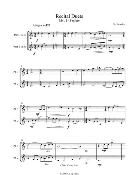 Recital Duets Bb Book