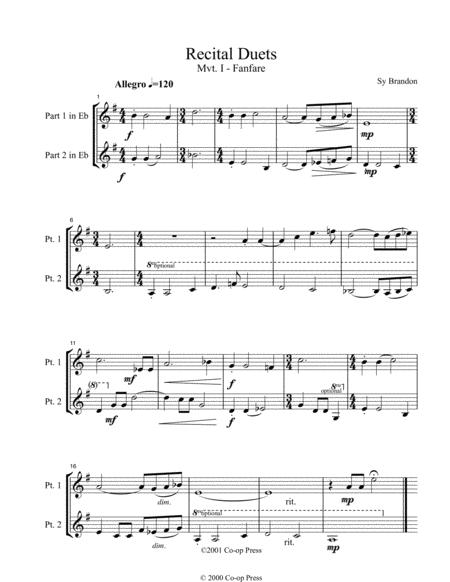 Recital Duets Eb Book