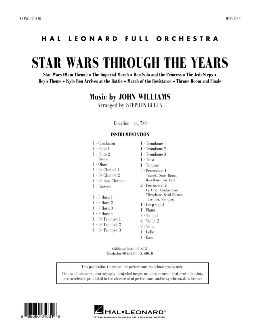 Star Wars Through the Years - Conductor Score (Full Score)