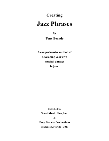 Developing Jazz Phrases