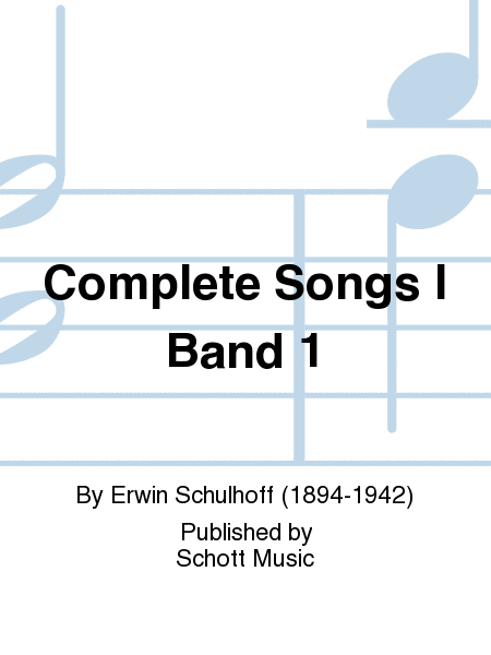 Complete Songs I Band 1