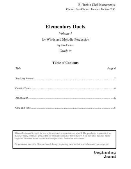 Elementary Duets, Volume 1