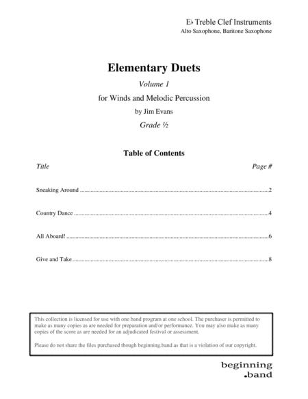 Elementary Duets, Volume 1, for Alto/Baritone Saxophone