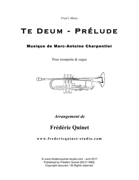 Te Deum, Prelude for trumpet & organ