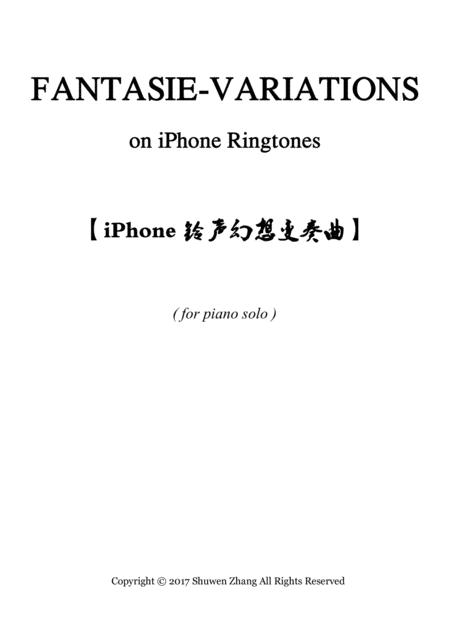 Fantasie Variations on iPhone Ringtones